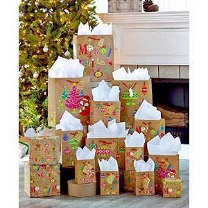 28-Pc. Holiday Gift Bag Set by GetSet2Save