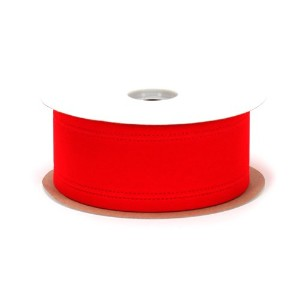 Berwick Wired Edge Veltex Flocked Poly Craft Ribbon, 2-1/2-Inch Wide by 20-Yard Spool, Red by...