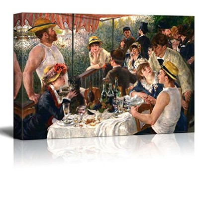 Luncheon of the Boating Party byピエールオーギュスト・ルノワール–キャンバス壁アート有名美術reproduction| World Famous...