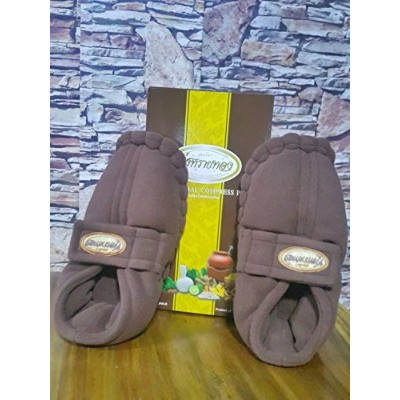 Thai Herbal Heat Compress Slippers - 1 Pair - High Quality Product - Pain Relief/Tired Feet...