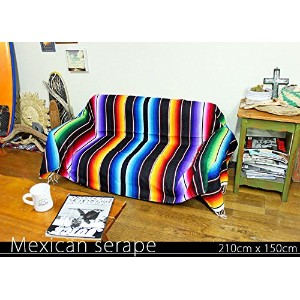 RUG&PIECE Mexican Serape made in mexcico ネイティブ メキシカン サラペ メキシコ製 210cm×150cm (rug-5775)