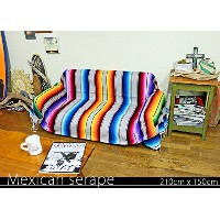 RUG&PIECE Mexican Serape made in mexcico ネイティブ メキシカン サラペ メキシコ製 210cm×150cm (rug-5776)