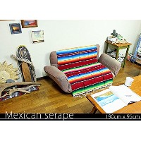 RUG&PIECE Mexican Serape made in mexcico ネイティブ メキシカン サラペ メキシコ製 190cm×95cm (rug-5822)
