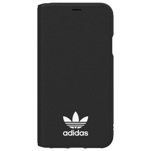 アディダス iPhone X用TPU booklet case adidas Originals Black/White 29195 [29195]