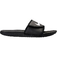 ナイキ メンズ サンダル シューズ Men's Nike Kawa Adjustable Slide Sandal Black/White