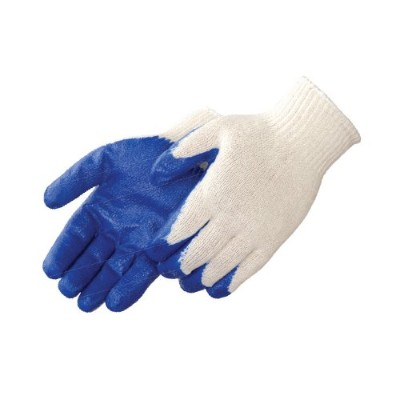 Liberty A-Grip Latex Palm Coated Seamless Knit Glove, Medium, Blue (Pack of 12) by Liberty Glove &...