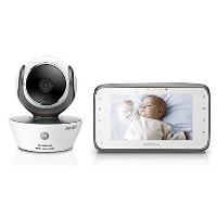 Motorola MBP854CONNECT Dual Mode Baby Monitor with 4.3-Inch LCD Parent Monitor and Wi-Fi Internet...
