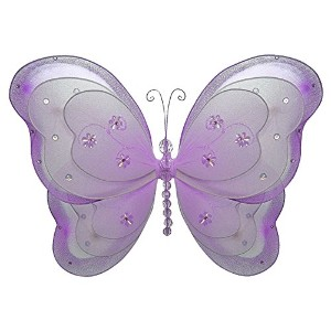 The Butterfly Grove Alex is Butterfly Decoration 3D Three Layered Hanging Mesh Nylon Decor, Purple...