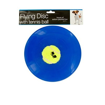 Kole Flying Disc with Tennis Ball Dog
