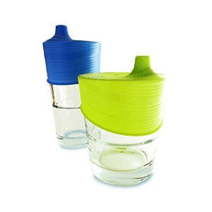 Silikids Siliskin Silicone Sippy Tops, Blue/Lime by Silikids