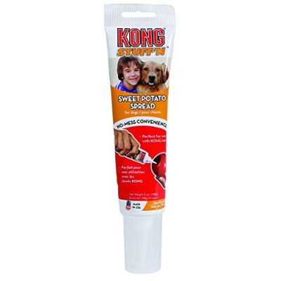 Kong Stuff N Real Sweet Potato Spread Delicious Flavorful Dog Treat Toy Tube 5z