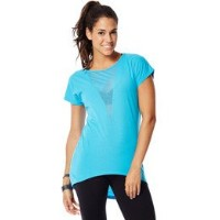 Zumba (ズンバ) Peep My Burnout V-Neck Tee, Bangin Blue [並行輸入品] (XL/XXL)