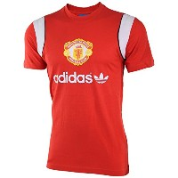 Adidas Manchester United T-Shirt - Red /サッカー マンチェスター・ユナイテッドFC T -シャツ (Large)