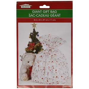 Plastic Giant Christmas Gift Bags 36 x 44 inches, Designs will vary by Christmas House