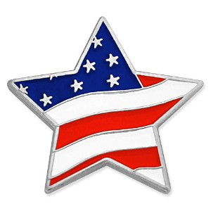 Pinmart 's Star Shaped American Flag Patrioticラペルピン 100