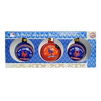 Forever(フォーエバー) MLB ニューヨーク・メッツ Gear NYM AUTH GLASS BALL 3 PACK -