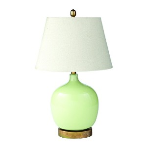 Split P Oval Glass Lamp with Oval Shade, Green by Split P