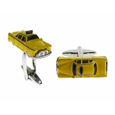 Yellow Taxi CabカフスボタンNYC New York City Cuff Links