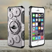 iPhone 5s/SE case,AICOO Metal Rotate Kickstand and Removable Sport Armband,Shockproof ,Drop-proof...