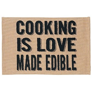 """Jozie B 200085"""" Cooking is Love Made Edible """"ジュート&コットンPlace Mat ,セットof 2"""