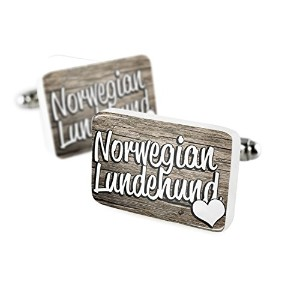 Cufflinks Norwegian Lundehund、Dog Breedノルウェー磁器セラミックNEONBLOND
