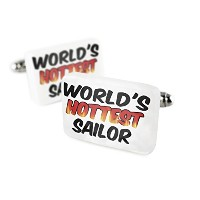 Cufflinks Worlds Hottestセーラー磁器セラミックNEONBLOND
