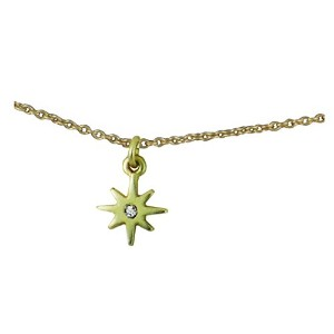 """Luckyフェザーカラーand Shine """" Inspire """" Tiny Starburst Necklace onカラーリングカード"""