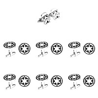 Super Hero Groom 's 7パックStormtrooper & Imperial Logo Cuff Links withギフトボックスbyスーパーヒーロー