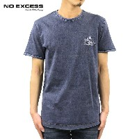 【15%OFFセール 2/16 10:00~2/20 9:59】 ノーエクセス NO EXCESS 正規販売店 メンズ 半袖Tシャツ ACID WASHED WIDE R-NECK TEE...