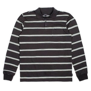 Brixton Noah Polo L/S Shirt Washed Black L ポロシャツ 送料無料