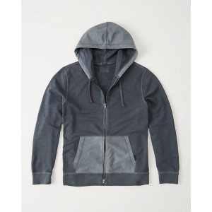 【送料無料】【新品】アバクロ【Mensメンズ】【Flagship Exclusive】フルジップパーカー/Navy【Lightweight Zip-Up Hoodie】【Abercrombie...