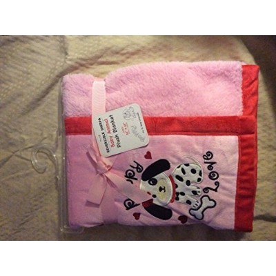 Reversible Sherpa Baby Animal Plush Blanket Dalmatian Pink/red by SL Baby Collection