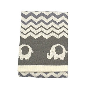 Koala Baby Cotton Jacquard Knit Blanket - Elephants by Koala Baby [並行輸入品]