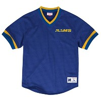 Los Angeles Rams NFL Mitchell & NessメンズメッシュVネックジャージー
