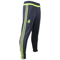 adidas Real Madrid Training Pant 2015-16-Deepest Space and Solar Yellow/サッカー トレーニングパンツ レアル・マドリード (S)