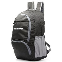 Manzoo 25lブラックライトPackable Travel Daypackバックパックハイキングメンズレディース
