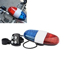New Arrival Bicycle Accessories 6LED 4Tone Sounds Bicycle Bell Bike Bell PoliceCar Light Electronic...