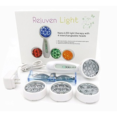 Lift Care Rejuven Light LED Light Therapy with 4 Interchangeable Heads Anti-Aging Device, Skin...