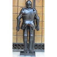 GOTHIC BLACK ANTIQUE FULL SUIT OF ARMOR MEDEIVAL ARMOR WEARABLE COSTUME by NAUTICALMART [並行輸入品]