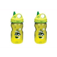 Nalgene Grip-n-gulp Everyday Kids Trail Bottle, Green 2 Pack. 3 Inches in Diameter By 7.5 Inches...
