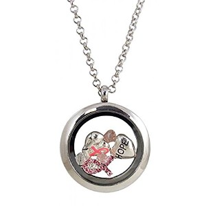 Tiny Trinkets Breast Cancer Awareness Believe Hopeネックレス – 24インチチェーン