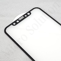 iPhone X 最新3D フルカバー強化ガラス・ PRO GUARD CRYSTAL GLASS 3D NANO COATING (iPhone X, GLOSSY black border)