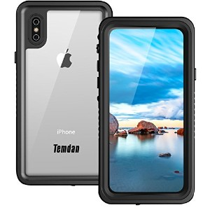 Temdan iphone x 防水ケース UNIQUEシリーズ 全面的に耐衝撃 防水ケースwith Built-in 保護スクリーン for Apple iPhone X 2017/ iphone...