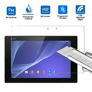 LinkCrown SONY Xperia Z2 Tablet 強化ガラス フィルム 超薄型 高透過率 薄さ0.3mm 9H硬度 防指紋 飛散防止 (SONY Xperia Z2 Tablet,...