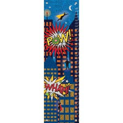 Oopsy Daisy Fine Art for Kids Comic Adventures Growth Chart by Holli Conger, 12 by 42-Inch by Oopsy Daisy
