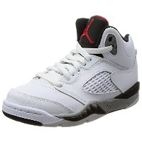 [ナイキ ジョーダン] JORDAN 5 RETRO BP 440889-104 White/University Red-Black-Matte Silver 19 cm