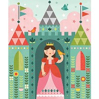 Petit Collage Tin Canister Jigsaw Floor Puzzle, Royal Castle, 64 Pieces by Petit Collage