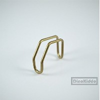Titanium E-Type hook Gold unit set for Brompton Folding Bike - Dino Kiddo