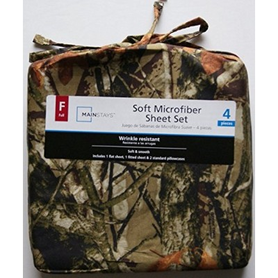Camouflage Soft Microfiber Full Sheet Set by Mainstays [並行輸入品]