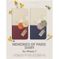 その他 Happymori iPhone7 Memories of Paris Diary ダークブルー ds-1941708